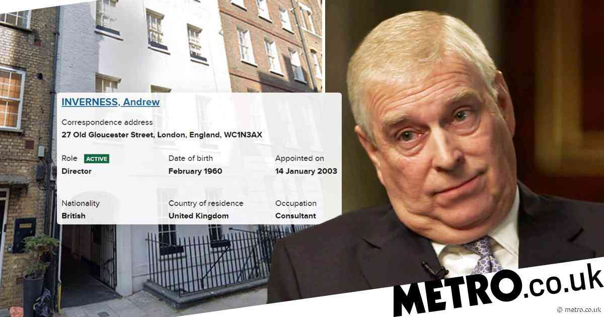 Prince Andrew 'used fake name to set up a secret company with sports tycoon'