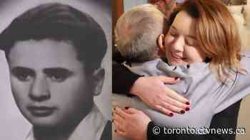 Holocaust survivor reunites with granddaughter of farmer who sheltered him during war