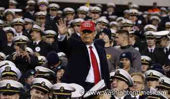 At Army-Navy game, Donald Trump touts waiver that lets military athletes go pro, then serve