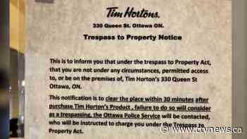 Tim Hortons removes sign ordering customers to leave after 30 minutes