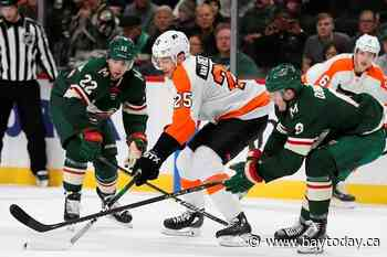 Staal nets pair, Wild stay hot at home by beating Flyers 4-1