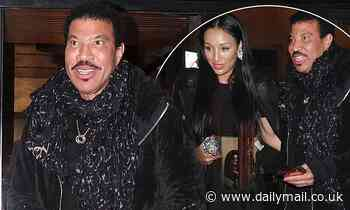 Lionel Richie, 70, steps out for dinner with his girlfriend Lisa Parigi in Rome