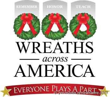 2019 National Wreaths Across America Day Sees the Placement of 2.2 Million Veterans' Wreaths at 2,158 Participating Cemeteries
