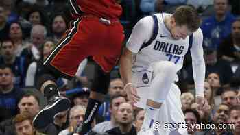Luka Doncic leaves Mavericks game with sprained ankle, will not return