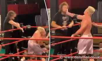 Love Island Australia's Eoghan Murphy PUNCHES wrestler to the ground after being slapped