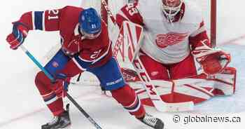 Bernier, Red Wings down Canadiens 2-1 for 2nd straight win