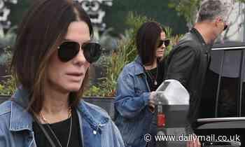 Sandra Bullock seen keeping a low profile heading out with boyfriend Bryan Randall