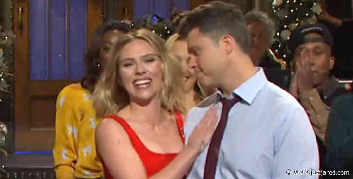 Scarlett Johansson Jokes About Engagement to Colin Jost in 'SNL' Monologue - Watch Now!