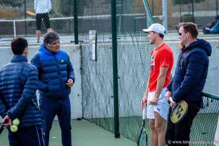 Casper Ruud works with Toni Nadal at Rafa Nadal Academy