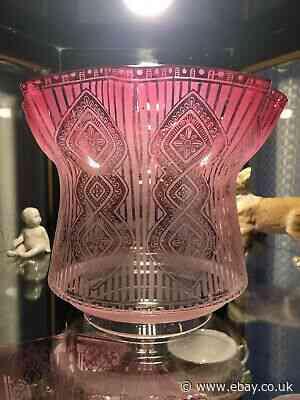 Antique Victorian Duplex Cranberry Glass Oil Lamp Shade No Reserve Antiques News Newslocker