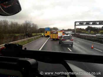 M5 collision causing heavy traffic