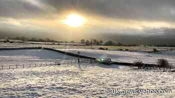 Snow and sleet in northern England but rain expected in west