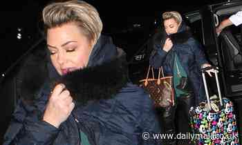 Lisa Armstrong toasts another successful season of Strictly as she leaves the wrap party