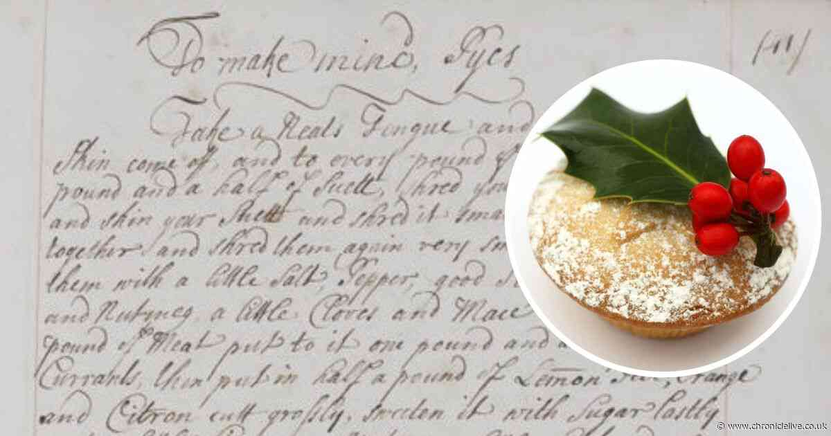 Newcastle heiress's 300-year-old mince pie recipe has a surprise ingredient