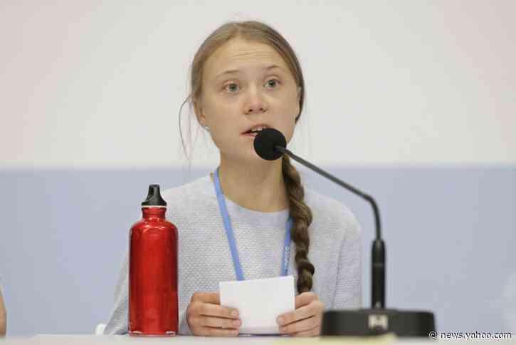 Going home: Thunberg stuck on floor of crowded German train