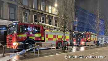 Firefighters work through the night to extinguish Glasgow city centre fire