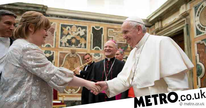 Susan Boyle performs for the Pope at Christmas concert at the Vatican