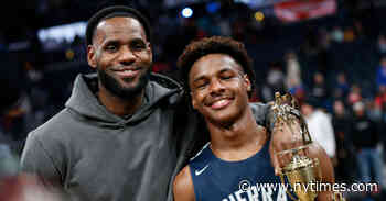 Bronny James Leads High School Team Past Father's Alma Mater