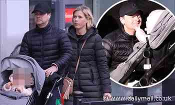 Declan Donnelly gets some Christmas shopping done with wife Ali Astall and baby Isla