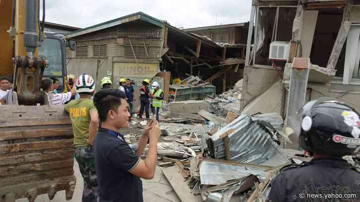Strong quake kills 1, collapses building in Philippines