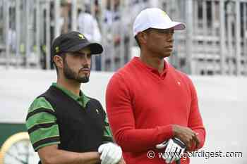 """Tiger Woods drops the mic during victory press conference: """"Abe wanted it, he got it"""""""