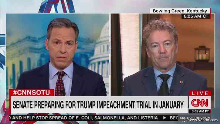 Tapper Grills Rand Paul on Ukraine: You Really Think Trump's 'Concerned About Rooting Out Corruption?'