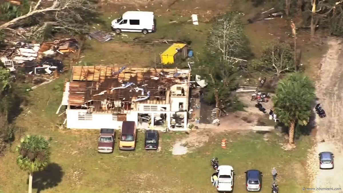 Tornado Near Jacksonville Blows Roof Off Resident's Home