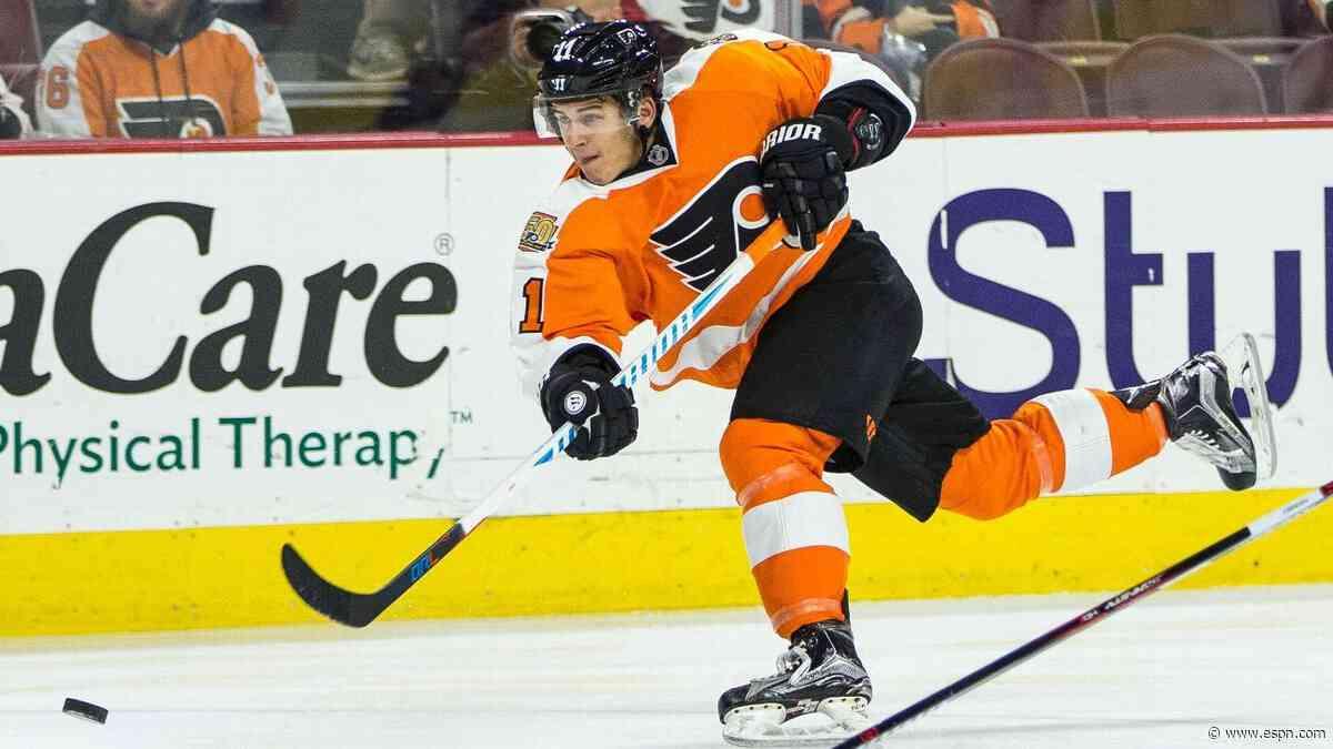 Leading scorer Konecny moved to IR by Flyers