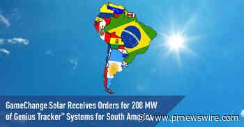 GameChange Solar przyjmuje zamówienia z Ameryki Południowej na systemy Genius Tracker™ o mocy 200 MW