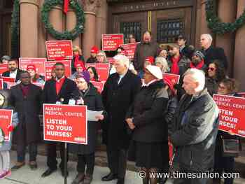 Rally, vigil held at City Hall for Albany Med nurses