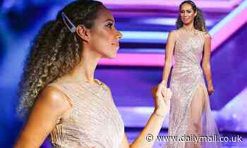 X Factor: The Band final: Leona Lewis dazzles in a glittering silver gown as she returns