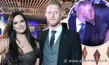 Cricketer Ben Stokes is supported by glamorous wife Clare Ratcliffe before sharing a sweet kiss