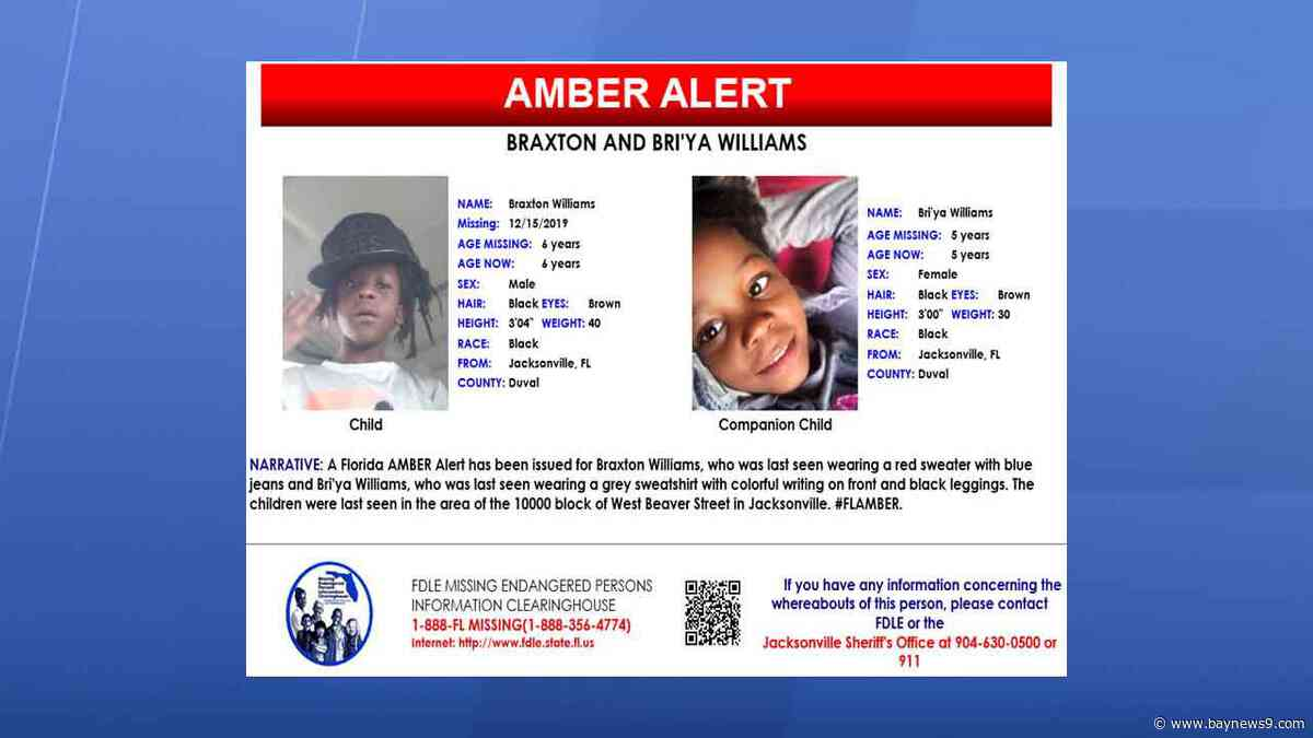 AMBER ALERT: Jacksonville Siblings — Ages 5, 6 — Missing from Home