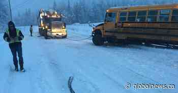 Cherryville unhappy with road contractor after school bus hits ditch