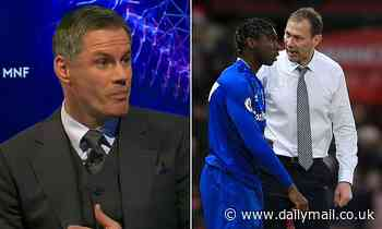 Jamie Carragher backs Duncan Ferguson's decision to haul Everton striker Moise Kean off