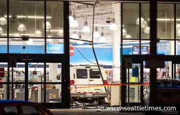 13 people injured when van crashes into Burien clothing store
