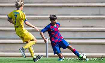Manchester City 'beat United, Arsenal and Liverpool in race to sign Barcelona wonderkid Juan Larios'