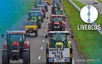 Volg hier liveblog: Boze boeren en bouwers de weg op in Groningen en Drenthe