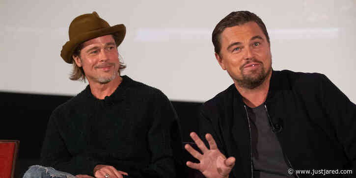 Brad Pitt & Leonardo DiCaprio Reunite for Variety's 'Once Upon a Time in Hollywood' Screening