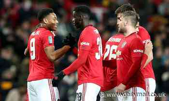Manchester United 3-0 Colchester - Carabao Cup 2019/20 plus semi-final draw