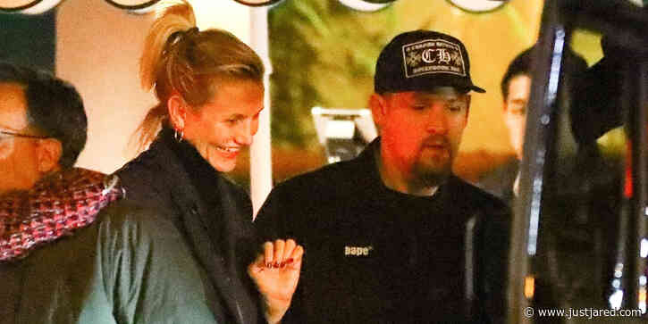 Cameron Diaz Looks So Happy While Out With Husband Benji Madden For Dinner
