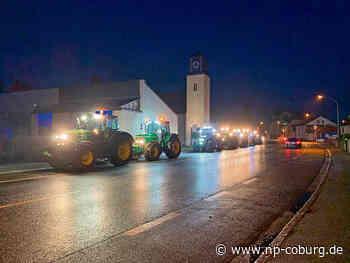 Spontaner Protest der Kronacher Landwirte