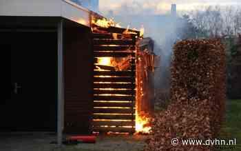 Brand in houthok achter huis in Wildervank