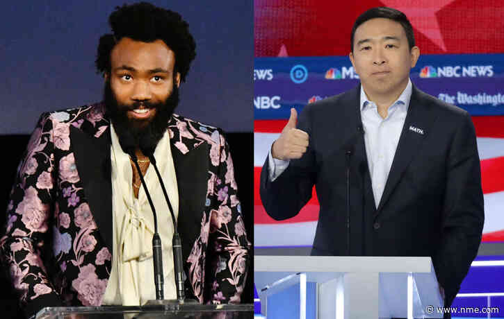 Donald Glover joins Democrat Andrew Yang's presidential campaign team