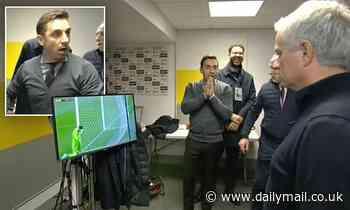 Gary Neville interrupts Jose Mourinho interview with hilarious reaction to David de Gea's howler