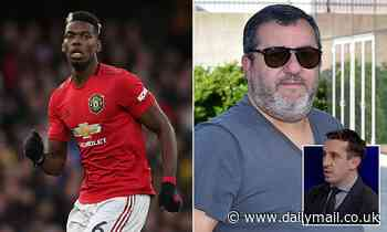 Gary Neville slams Mino Raiola who insists Paul Pogba 'wants to win trophies at Old Trafford'