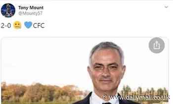 Mason Mount's dad trolls Jose Mourinho with 'zip it' emoji after Chelsea's triumph over Tottenham