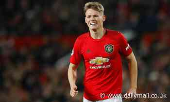Manchester United man Scott McTominay leaves Old Trafford on crutches