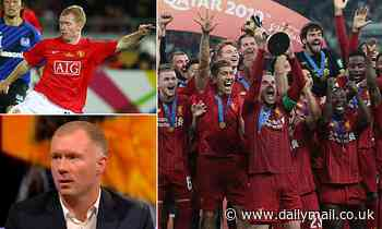 Paul Scholes says winning the Club World Cup is less important than a BADMINTON trophy