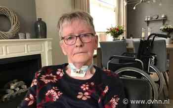 Gré Reenders uit Leens krijgt geen thuiszorg voor buisje in haar luchtpijp ('Doodeng, ik kan wel stikken')